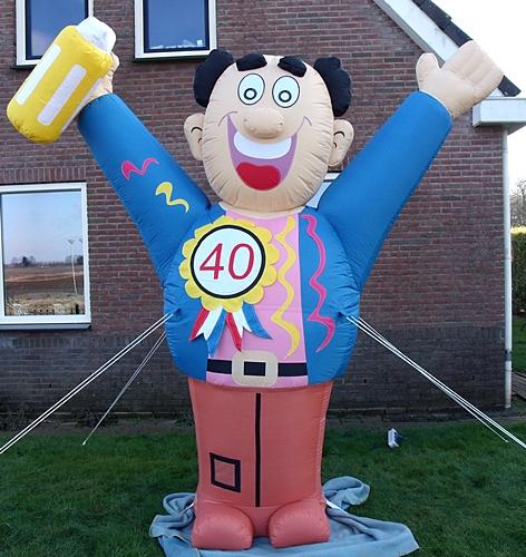Super Opblaasbare man voor 40 jaar #CU23